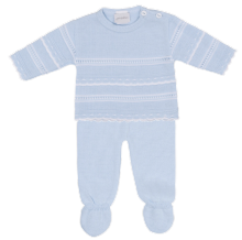Baby Boys Knitted Long Sleeved Top & Pants